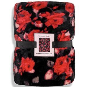 Victoria's Secret floral Sherpa blanket